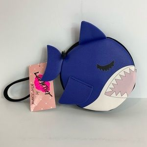 NWT Betsey Johnson Baby Shark Navy Wristlet